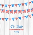 Party Wooden Background in Traditional American vector image vector image