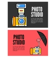 Photography banner set with photo elements vector image