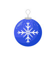 picture of a christmas bulb with a snowflake in vector image vector image