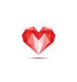 polygonal heart vector image vector image