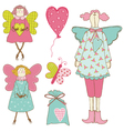 Scrapbook Design Elements - Baby Doll Set vector image vector image