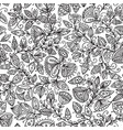 seamless floral pattern in tribal boho ornament vector image vector image