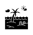 seaside resort black glyph icon vector image vector image
