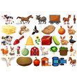 set farm element vector image vector image