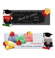 Set of two horizontal advertising banners with stu vector image vector image