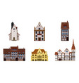 set old buildings houses facades europe vector image vector image