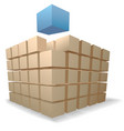 shipping boxes puzzle vector image vector image