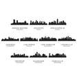 silhouettes usa cities 2 vector image