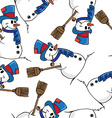 snowman pattern vector image vector image