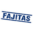 square grunge blue fajitas stamp vector image vector image