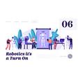 stages robots creation engineering robotics vector image