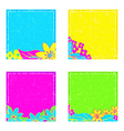 Stickers with flowers vector image vector image