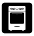 Stove button vector image vector image