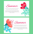 summer poster with flowers on vector image vector image