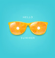 sunglasses with orange and mint background vector image vector image