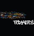 termites text background word cloud concept vector image vector image