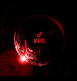 the planet mars mars in vector image