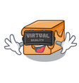 virtual reality caramel candies mascot cartoon vector image vector image