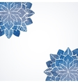 Watercolor flower blue pattern vector image vector image