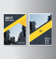 Yellow black annual report Leaflet Brochure vector image vector image