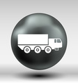 Military Truck icon button logo symbol concept vector image