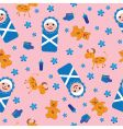 baby seamless background vector image