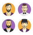 Different men hipster avatar set collection vector image