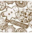 2302 cookies background vector image vector image