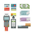 atm payment card terminal vector image vector image