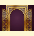 background with golden arch