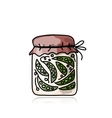 Bank of pickled green pea sketch for your design vector image vector image