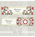 Banners Ornament Red Flowers vector image