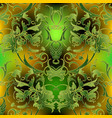 baroque ornate green seamless pattern luxury vector image vector image