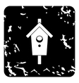 Bird house icon grunge style vector image vector image