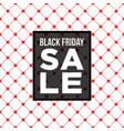 black friday sale poster over seamless pattern vector image