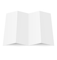 Blank booklet vector image vector image