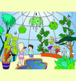 botanical garden cartoon vector image