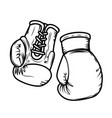 boxing gloves design elements for logo label sign vector image