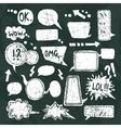bubble speech icons set chalkboard vector image vector image