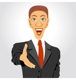 business man extending his hand for handshake vector image vector image