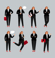 businesswoman character young female professional vector image vector image