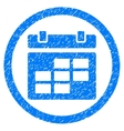 Calendar Rounded Icon Rubber Stamp vector image vector image