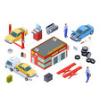 car service isometric concept venicle vector image vector image