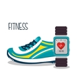 cartoon sneakers smart watch sport elements design vector image vector image
