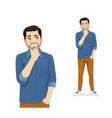 casual man thinking vector image vector image