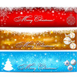 christmas banner with snowflakes set vector image vector image