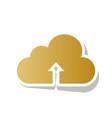 cloud technology sign golden gradient vector image vector image