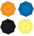 colorful umbrellas set vector image vector image