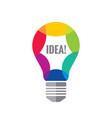 creative idea - logo template concept vector image vector image