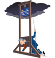 Credit card guillotine vector image vector image
